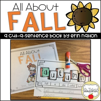 """All About Fall"" a cut-a-sentence book"