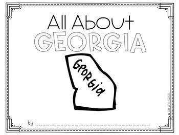 """""""All About Georgia"""" a cut-a-sentence book"""