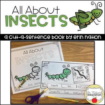 """All About Insects"" a cut-a-sentence book"