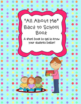 """""""All About Me"""" Back to School Book"""