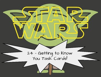 *All About Me* Task Cards (Star Wars)