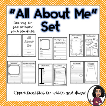 """All About Me"" Beginning of Year Activities"