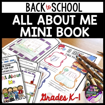 """""""All About Me"""" Book with Differentiated Writing Options"""