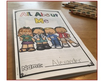 All About Me Book with Differentiated Writing Options