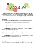 """""""All About Me"""" Essay"""