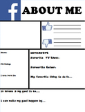 """""""All About Me"""" Facebook Page - Editable"""