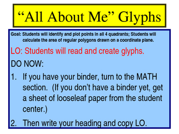 """All About Me"" Glyph Powerpoint"