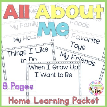 """All About Me""  Home-Learning Packet"