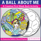 All About Me' Soccer Ball Words & Doodles Back to School A