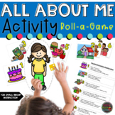 All About Me Activities- Roll A Game