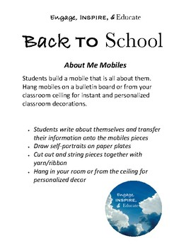 """""""All About Me"""" Student Mobile"""