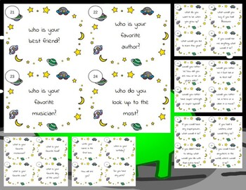*All About Me* Task Cards (Space)