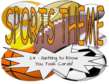 *All About Me* Task Cards (Sports)