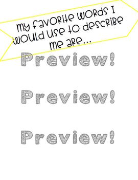"""""""All About Me"""" google slides presentation for students going back to school!"""