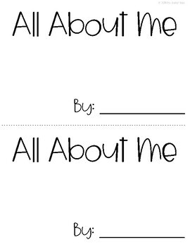 """All About"" Mini Books & Templates"