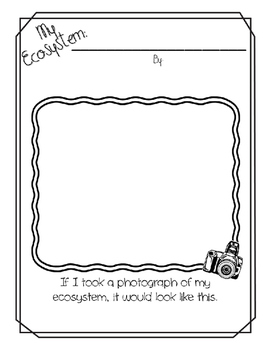 """""""All About My Ecosystem"""" Create-a-Book"""