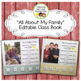 """""""All About My Family"""" Editable Interactive Class Book"""