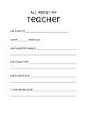 """All About My Teacher"""