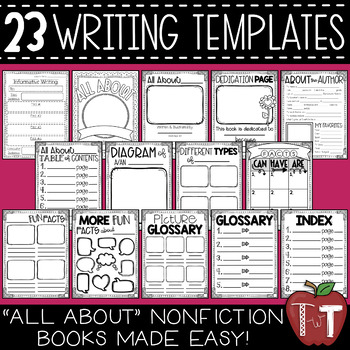 """""""All About"""" Nonfiction Booklet for Informative Writing {Templates}"""