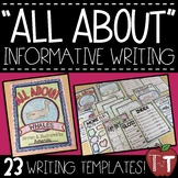 """All About"" Nonfiction Booklet for Informative Writing {Te"