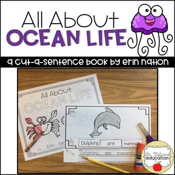 """All About Ocean Life"" a cut-a-sentence book"