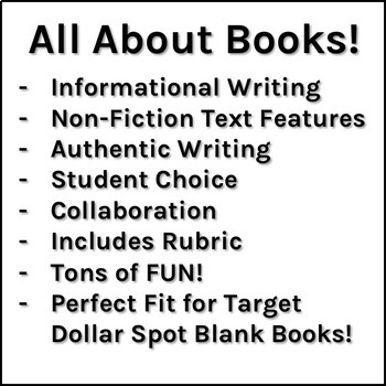 """All About"" Research Project Book PBL (Fits Target Dollar Spot Blank Books)"