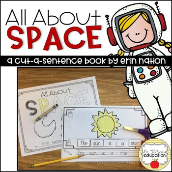 """All About Space"" a cut-a-sentence book"