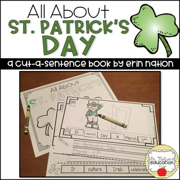 """All About St. Patrick's Day"" a cut-a-sentence book"