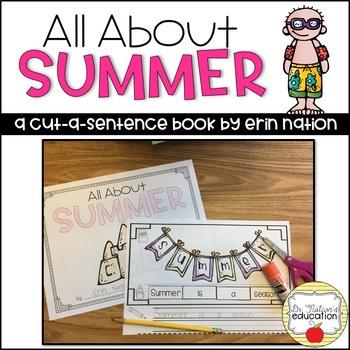 """""""All About Summer"""" a cut-a-sentence book"""