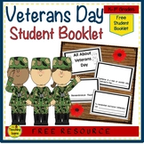 """""""All About Veterans Day"""" Student Booklet {FREE}"""