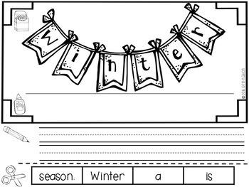 """All About Winter"" a cut-a-sentence book"