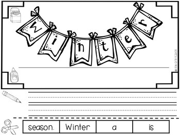 """All About Winter"" a cut-a-sentence book"