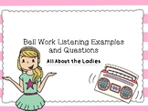 """""""All About the Ladies"""" Listening Journal"""