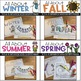 """""""All About the Seasons"""" 4 cut-a-sentence books"""