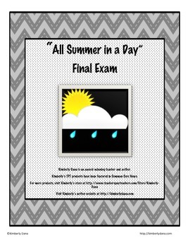 All Summer in a Day Final Exam Test