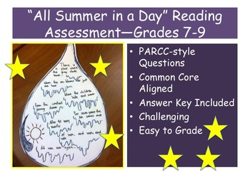 """""""All Summer in a Day"""" Reading Assessment—Grades 7-9"""