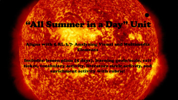 """""""All Summer in a Day"""" Unit"""