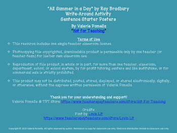 """All Summer in a Day"" Write-Around Group Activity"