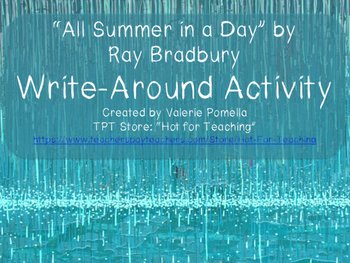 """""""All Summer in a Day"""" Write-Around Group Activity"""