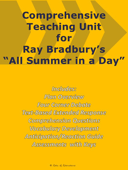 """""""All Summer in a Day"""" by Ray Bradbury Common Core-Aligned Teaching Unit"""