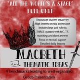 """""""All the World's a Stage"""" Macbeth Full Unit Plan Bundle (Project Based)"""