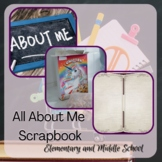 #AllAboutMe Cereal Box and Scrapbook