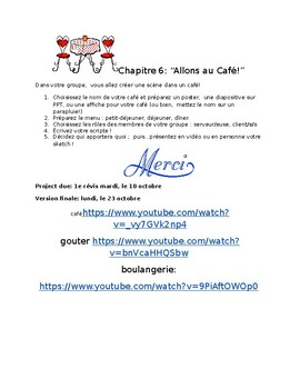 """Allons au Cafe!"" Project"