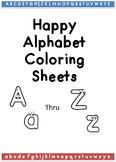 /Alphabet Coloring Sheets