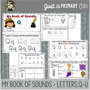 ~*Alphabet Mini Books Q-U