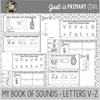 ~*Alphabet Mini Books V-Z