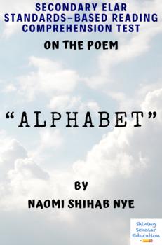 """Alphabet"" Poem by Naomi Shihab Nye Multiple-Choice Reading Test"