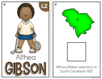 { Althea Gibson } Black History Month Adapted Book Set
