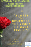 """""""Always to Remember: The Vision..."""" Nonfiction by Brent Ashabranner Reading Test"""