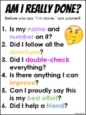 """""""Am I really done?"""" Mini-Poster in English AND Spanish"""